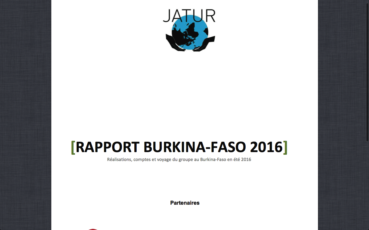 Rapport Burkina_Faso 2016